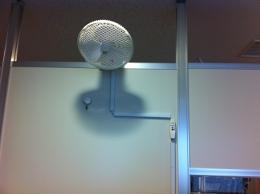 扇風機を設置しました。